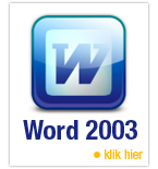 Online cursus/training Word 2003